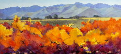 Autumn Vines - Robertson District | 2019 | Oil on Canvas | 36 x 65 cm