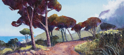 View from Pipe Track of Lions Head II | 2020 | Oil on Canvas | 42 x 76 cm
