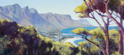 View of Camps Bay From The Glen | 2020 | Oil on Canvas | 36 x 51 cm
