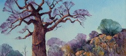 Baobab in Kruger Park 1 | 2019 | Oil on Canvas | 44 x 62 cm