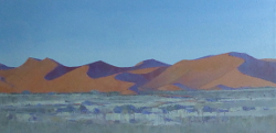 Sossusvlei Dunes - Namibia III | 2014-15 | Oil on Canvas | 34 x 68 cm