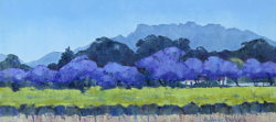Jacarandas - Worcester Valley | 2016 | Oil on Canvas | 30 x 60 cm
