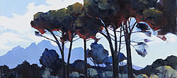 Pinescape near Simonsberg | 2013 | Oil on Canvas | 46 x 64 cm