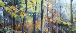 Nature's Stained Glass Window - Autumn Trees - Scotland II | 2014 | Oil on Canvas | 51 x 77 cm