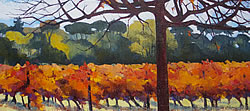 Autumn Vines - Oude Libertas - Stellenbosch | 2013 | Oil on Canvas | 40 X 72 cm