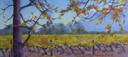 Autumn Vines - Franschhoek | 2019 | Oil on Canvas | 40 x 70 cm